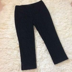 Eli's Tahari lace cropped pants pant 10